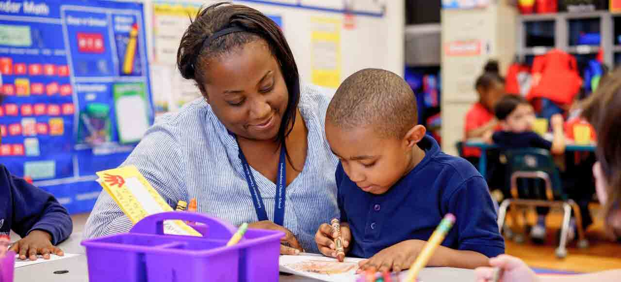 IndependenceCharter-teacher-with-student-coloring